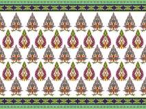Modèle des fleurs et des feuilles photographie stock libre de droits