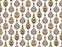 Modèle des fleurs et des feuilles photo stock