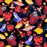 Modèle des grenouilles d'amants illustration de vecteur