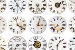 Modèle des horloges superficielles par les agents par antiquité photographie stock