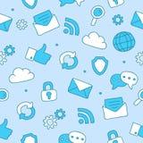 Modèle des icônes d'Internet Images stock