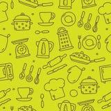 Modèle des icônes de cuisine Photo libre de droits