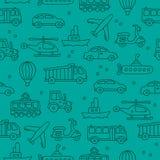 Modèle des icônes de transport Images libres de droits