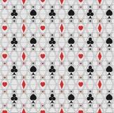 Modèle des lignes minces et symboles de jouer des cartes Images stock
