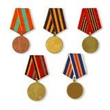 Modèle des médailles Photos libres de droits
