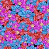 Modèle des orchidées Illustration de vecteur Dessin à la main Photo stock