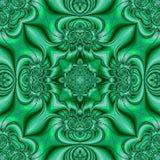 Modèle des ornements circulaires Turquoise de Teal et fond vert dans le style de la peinture chinoise sur la porcelaine illustration de vecteur