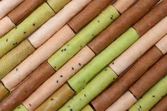 Modèle des petits pains colorés de gaufre Photographie stock libre de droits