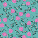 Modèle des roses de griffonnage Photographie stock