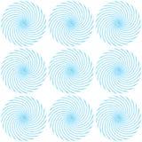 Modèle des spirales lumineuses bleues Images stock