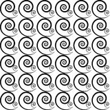Modèle des spirales noires Images stock