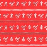Modèle des symboles nationaux sur un fond rouge Photographie stock libre de droits
