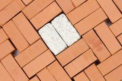 Modèle diagonal avec des briques images libres de droits