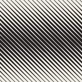 Modèle diagonal tramé noir et blanc sans couture de rayures de vecteur photographie stock