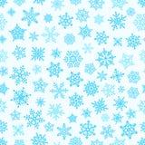 Modèle différent d'éléments de flocon de neige illustration libre de droits