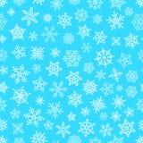 Modèle différent d'éléments de flocon de neige illustration de vecteur