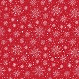 Modèle différent sans couture de flocons de neige Image libre de droits