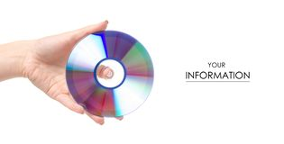 Modèle disponible de disque photographie stock
