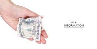 Modèle disponible du dollar d'argent Image stock