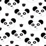 Modèle drôle de tête de panda Photos libres de droits