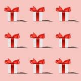 Modèle du boîte-cadeau blanc photos libres de droits