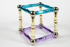 modèle du cube 3d Photo libre de droits
