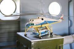 Modèle du grand hélicoptère de transport de fret Mi-10 Images libres de droits