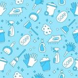 Modèle du nettoyage d'icônes Photos stock