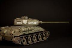 Modèle du réservoir T-34/85 d'Union Soviétique Image stock