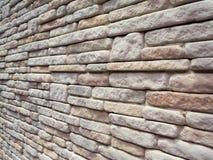 Modèle du ton doux décoratif de texture de mur en pierre dans l'angle d'inclination Photo libre de droits