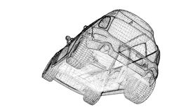 Modèle du véhicule 3D Photos stock