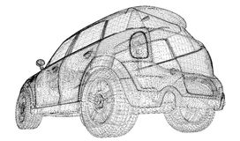 Modèle du véhicule 3D illustration de vecteur