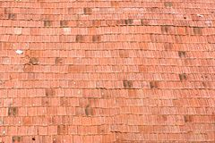 Modèle du vieux toit de tuiles de la maison, fond de texture Image libre de droits