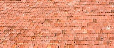 Modèle du vieux toit de tuiles de la maison, fond de texture Photo stock