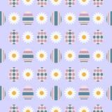 Modèle eamless de S avec des oeufs de pâques Ornement commandé Illustration de vecteur illustration de vecteur