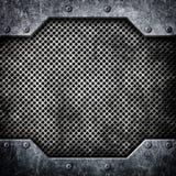 Modèle en acier de maille avec les plaques de métal et les rivets, 3d, illustratio illustration de vecteur