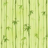 Modèle en bambou sans couture Images libres de droits