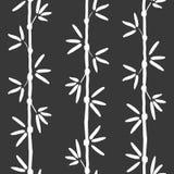 Modèle en bambou sans couture de vecteur Modèle asiatique vert avec l'arbre en bambou tropical Pour des papiers peints, fond de W Photographie stock libre de droits