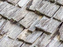 Modèle en bois abstrait de toit de grilles Image libre de droits