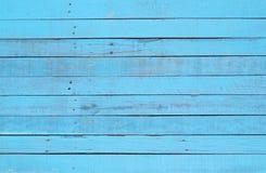 Modèle en bois bleu-clair Photographie stock libre de droits
