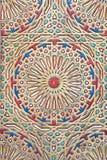 Modèle en bois coloré antique du Maroc Photographie stock