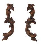 Modèle en bois décoratif d'ornement image stock