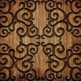 Modèle en bois découpé Image stock