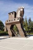 Modèle en bois d'un Trojan Horse troy La Turquie Image libre de droits