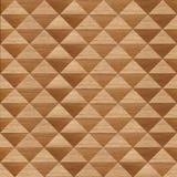 Modèle en bois dans la forme de triangle Photographie stock libre de droits