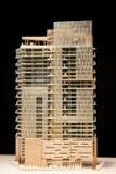 Modèle en bois de bâtiment Images stock