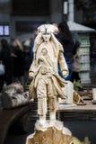 Modèle en bois de Jack Sparrow Photo libre de droits
