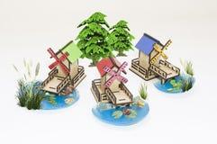 Modèle en bois de jouet photo libre de droits