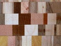 Modèle en bois de mosaïque Images stock
