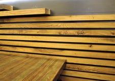 Modèle en bois de teck naturel Photos libres de droits
